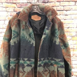 Woolrich Southwestern Indian Blanket Aztec Coat